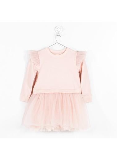 Pinolini Pembe Tütülü Elbise Pembe